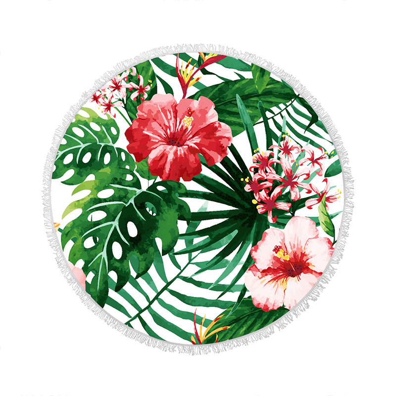 Hot Transfer Print Microfiber Round Beach Towel