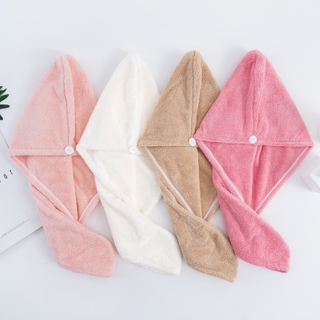 Coral Fleece Hair Wrap Towel Magic Hair-drying Cap turban Customize Logo Package
